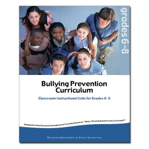 Bullying Prevention Curriculum: It's Time to React, Units for Grades 6-8 Cover