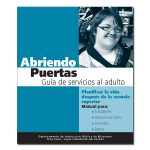 Opening Doors to Adult Services in Spanish Cover